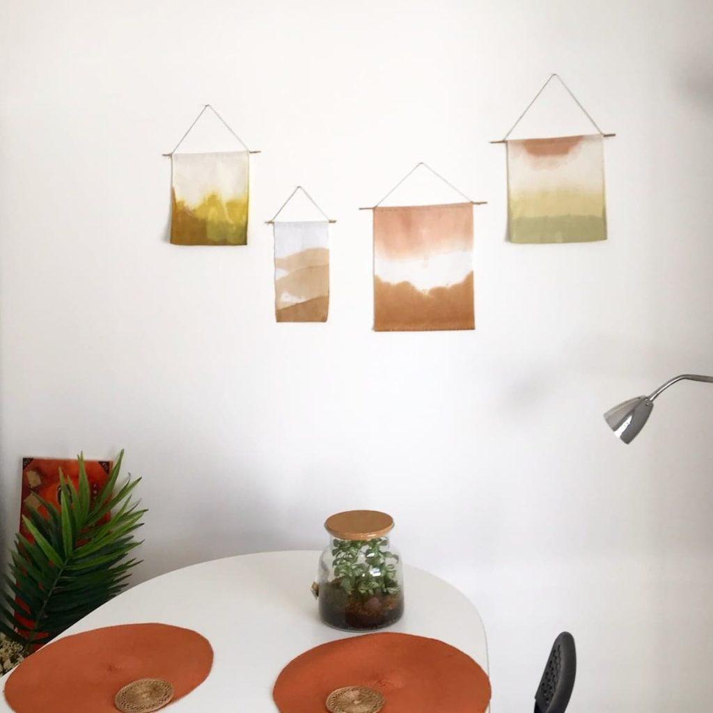 kakemono tenture teinture vegetale